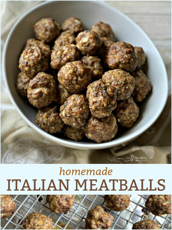 Homemade Italian Style Meatballs