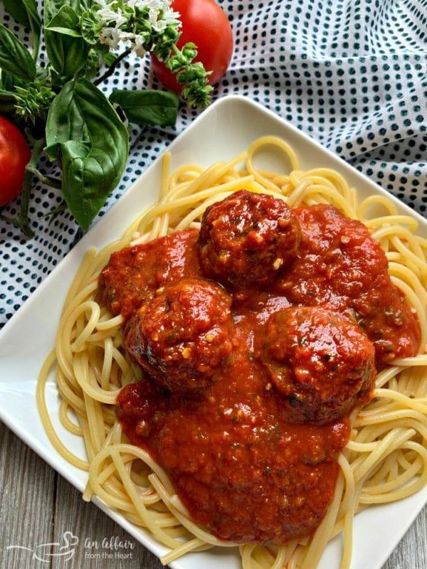 Italian Meatballs and Homemade Marinara Sauce