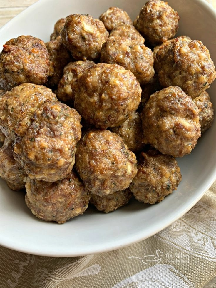 Homemade Italian Meatballs Made With Beef And Italian Sausage