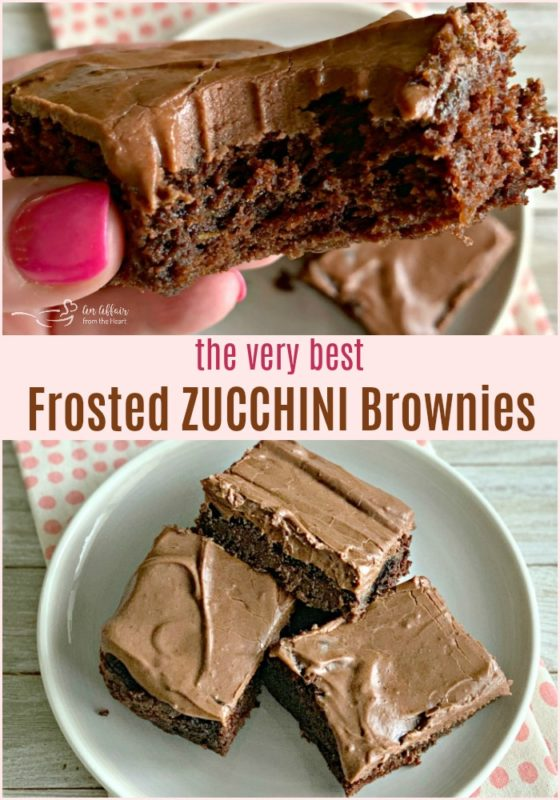 The VERY BEST Frosted Zucchini Brownies