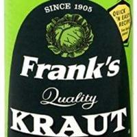 Franks Kraut, Shredded, Canned, 14-Ounce (Pack of 24)