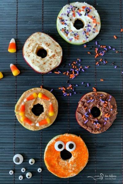 """Apple """"Donut"""" Monsters"""