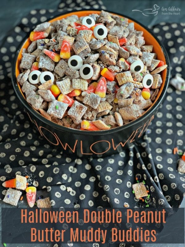 Halloween Double Peanut Butter Muddy Buddies HERO