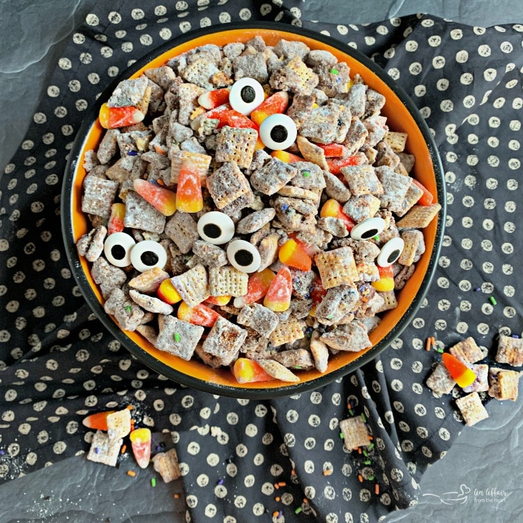 Halloween Double Peanut Butter Muddy Buddies