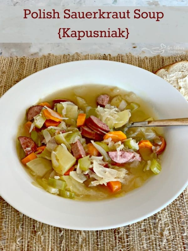 Polish Sauerkraut Soup - Kapusniak