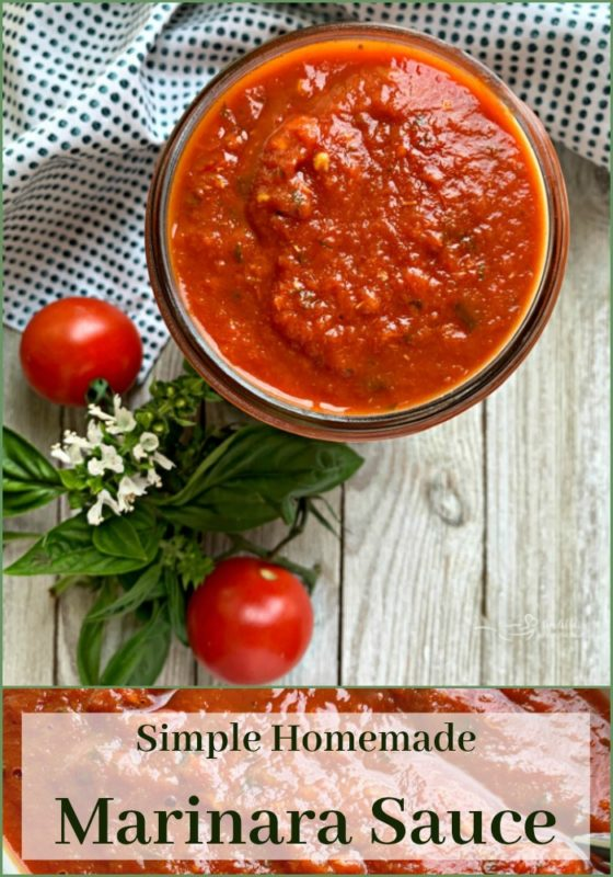 Simple Homemade Marinara Sauce