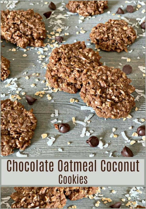 Chocolate Oatmeal Coconut Cookies - An Affair from the Heart