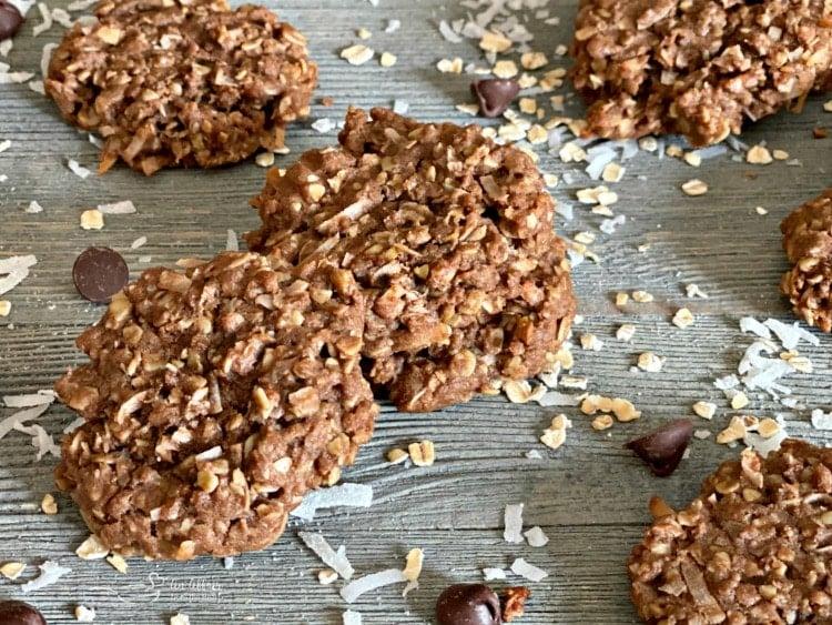 Chocolate Oatmeal Coconut Cookies horizontal