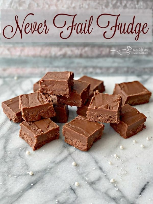 Never Fail Fudge Recipe title shot