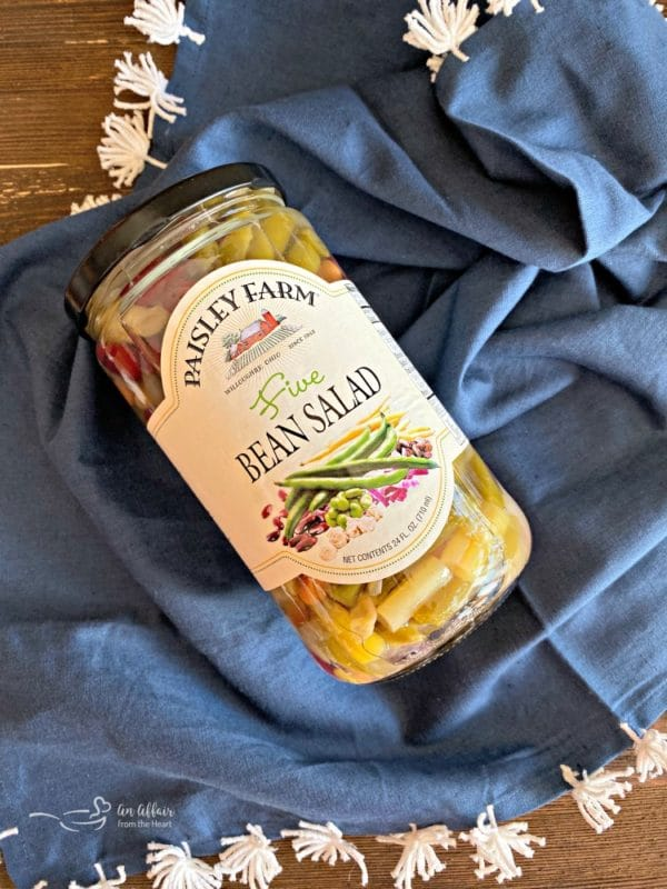 jar of Paisley Farm Five Bean Salad