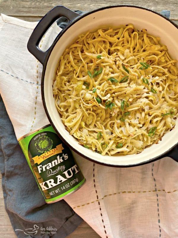 Polish Noodles & Kraut - kluski kapusta kiszona