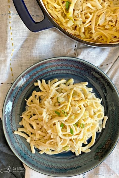 Polish Noodles & Sauerkraut [Kluski Kapusta Kiszona]