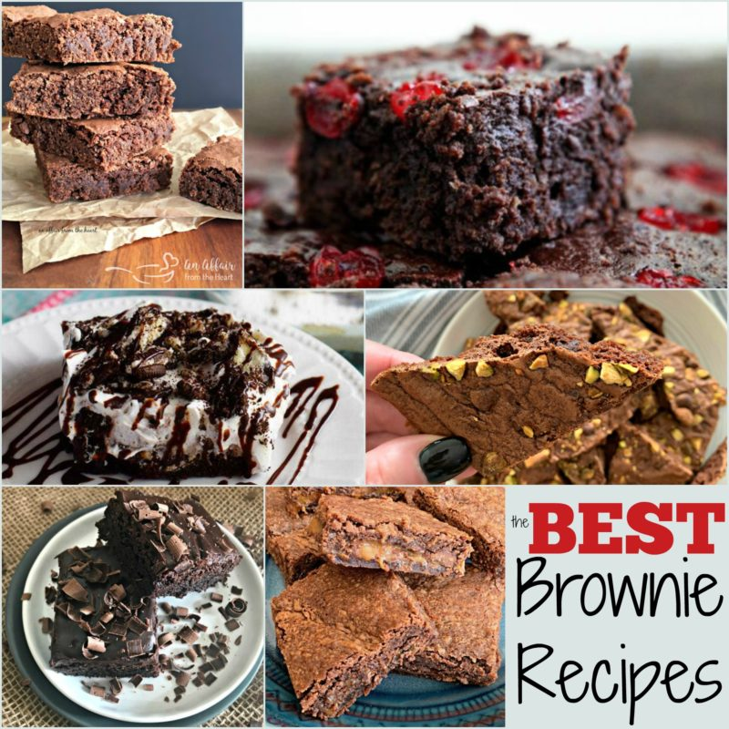"""Pinterest collage with text """"The BEST BROWNIE RECIPES"""""""