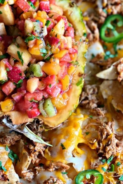Tropical Chicken Nachos with Tropical Salsa