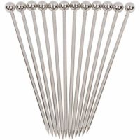 Stainless Steel Cocktail Picks 12 pcs