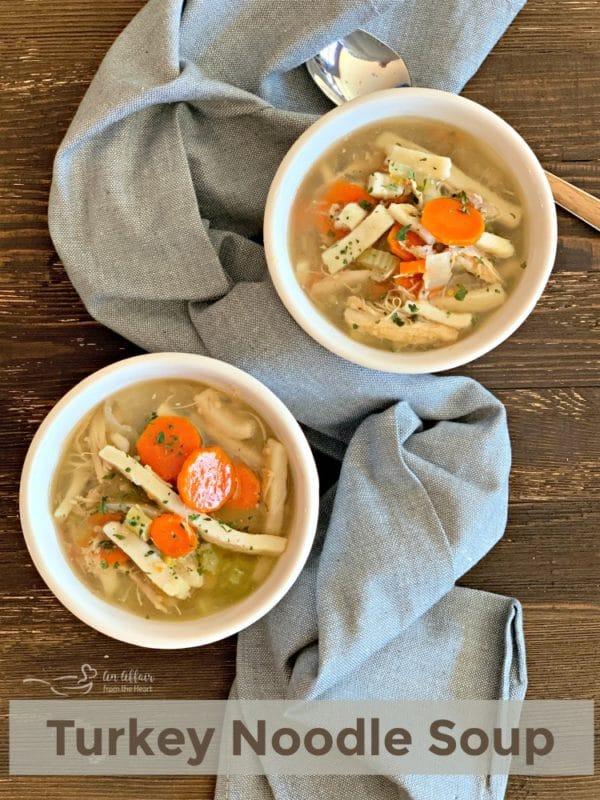 2 bowls turkey soup