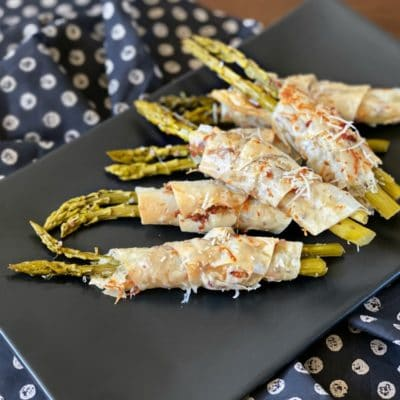 Bacon & Cheese Phyllo Wrapped Pickled Asparagus