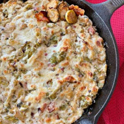 Cheesy Brussels Sprouts Dip