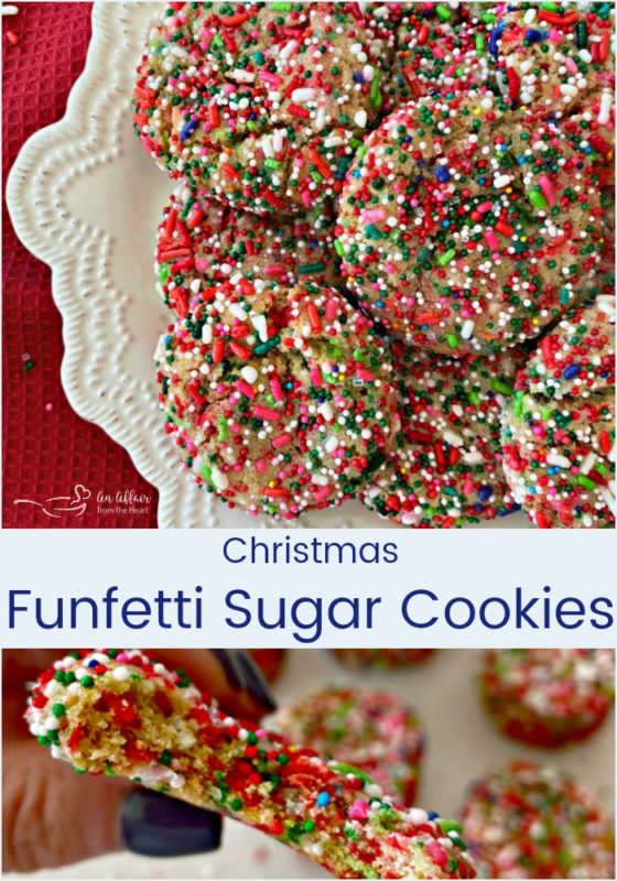 Christmas Funfetti Sugar Cookies - An Affair from the Heart