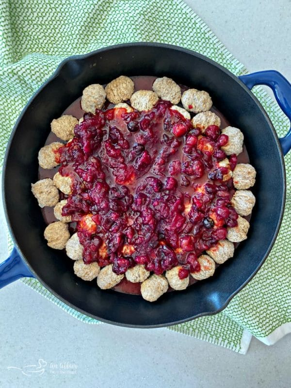 Dorothy's Cranberry Meatballs prep
