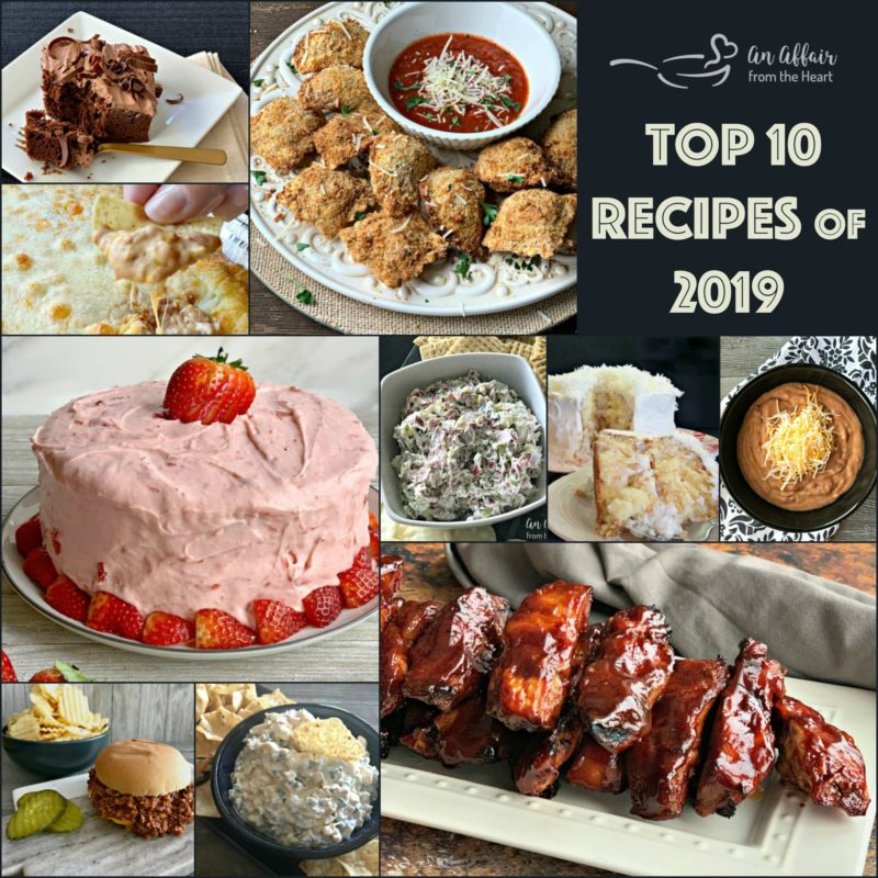 Top 10 Recipes of the Year Collage