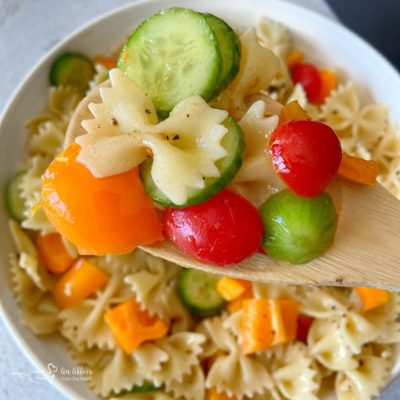Easy French Vinaigrette Pasta Salad