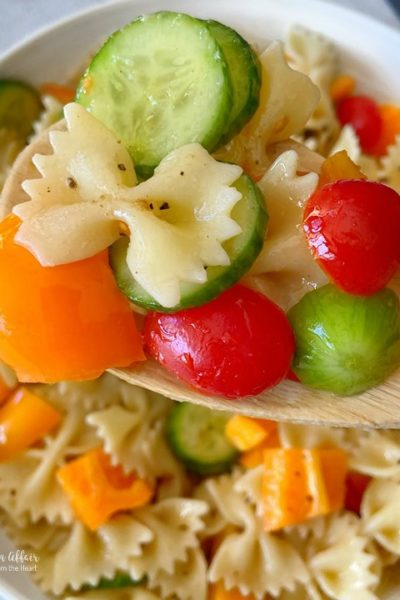 Easy French Vinaigrette Pasta Salad
