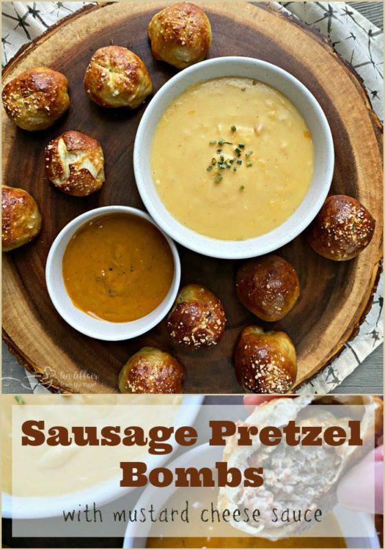 Sausage Pretzel Bombs - An Affair from the Heart