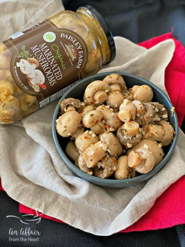 Paisley Farm Foods Organic Marinated Mushrooms