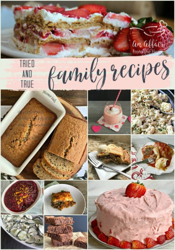 Tried & True Family Recipes - An Affair from the Heart