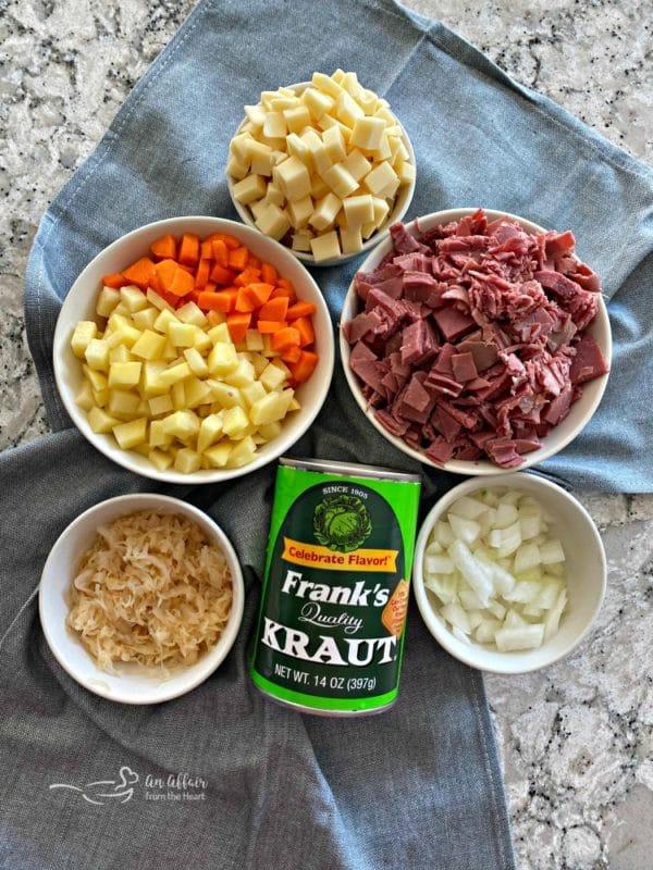 Reuben Pot Pies ingredients