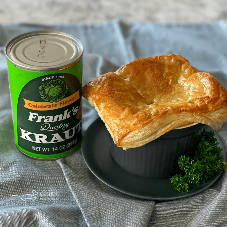 Reuben Pot Pies with Frank's Kraut