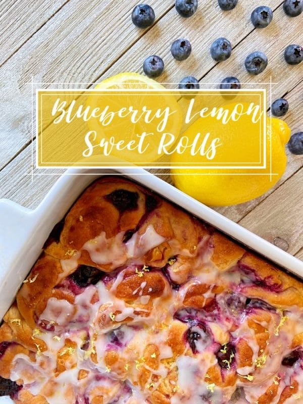 Lemon Blueberry Sweet Rolls