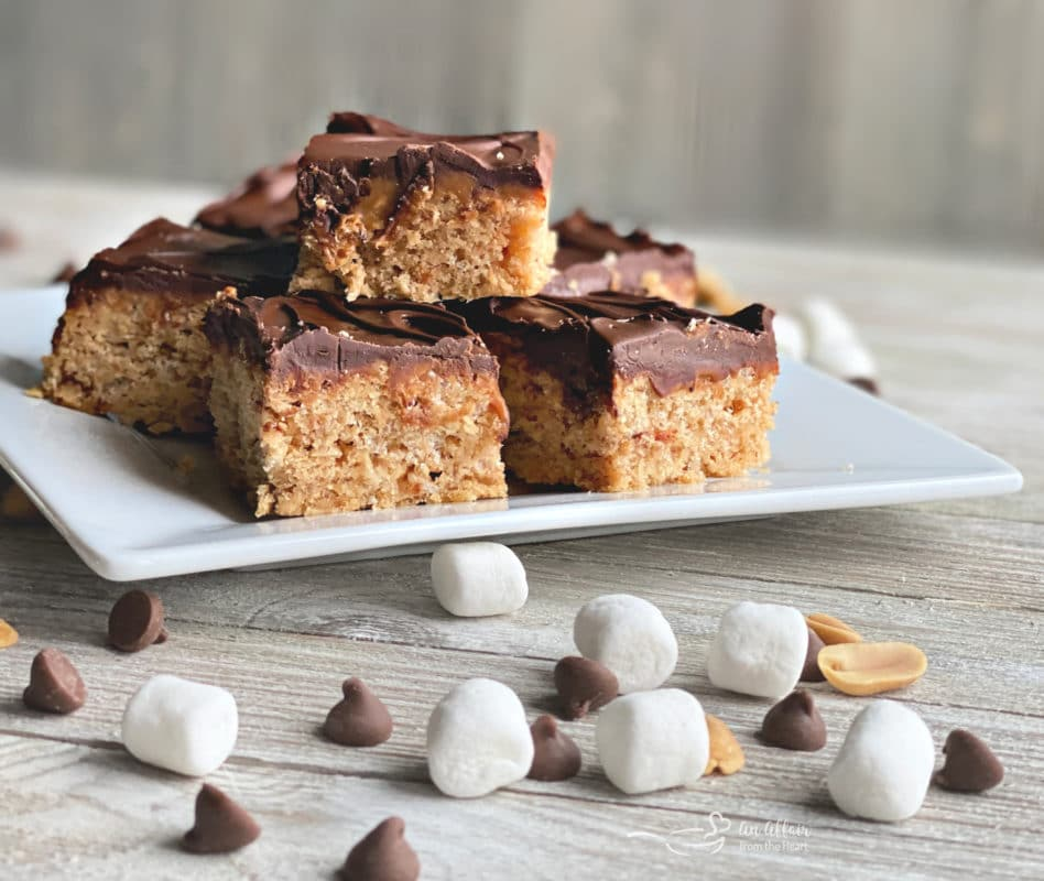 Whatchamacallit Bars with marshmallows