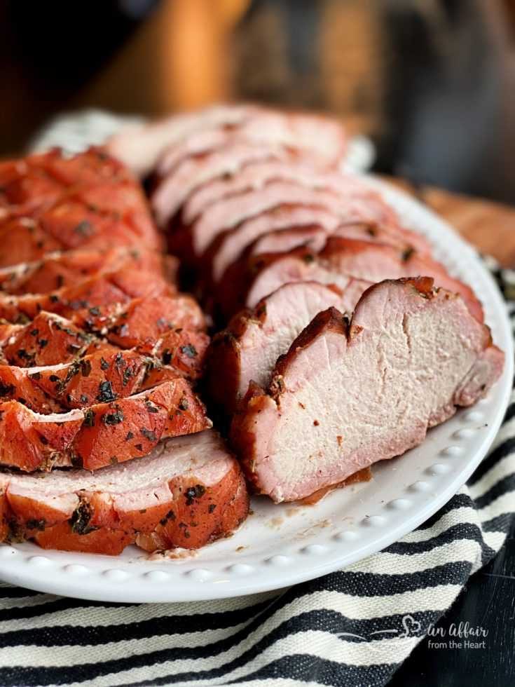 Smoked Pork Loin on platter