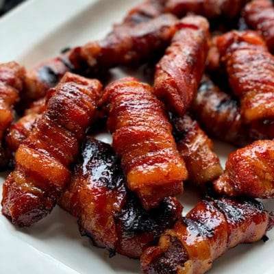 Sweet & Spicy Bacon Wrapped Pork Ribs