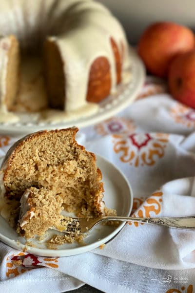 Caramel Apple Tea Cake