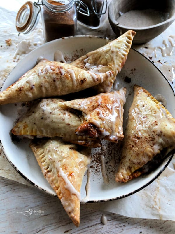 Pumpkin Pie Turnovers on a plate