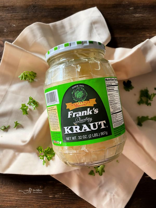 Frank's Kraut in a jar