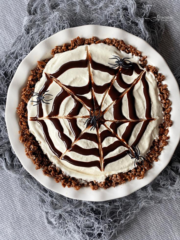 Spider Web Ice Cream Pie