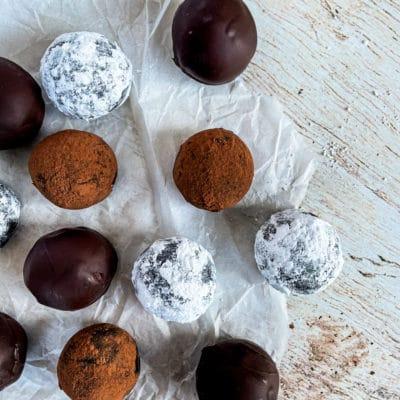 Bittersweet Chocolate Bourbon Balls
