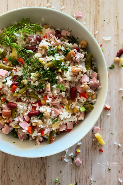 Five Bean Ham & Rice Salad