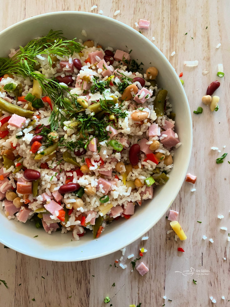 Five Bean Ham & Rice Salad