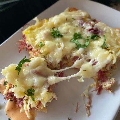 Reuben Breakfast Casserole with Crescent Rolls