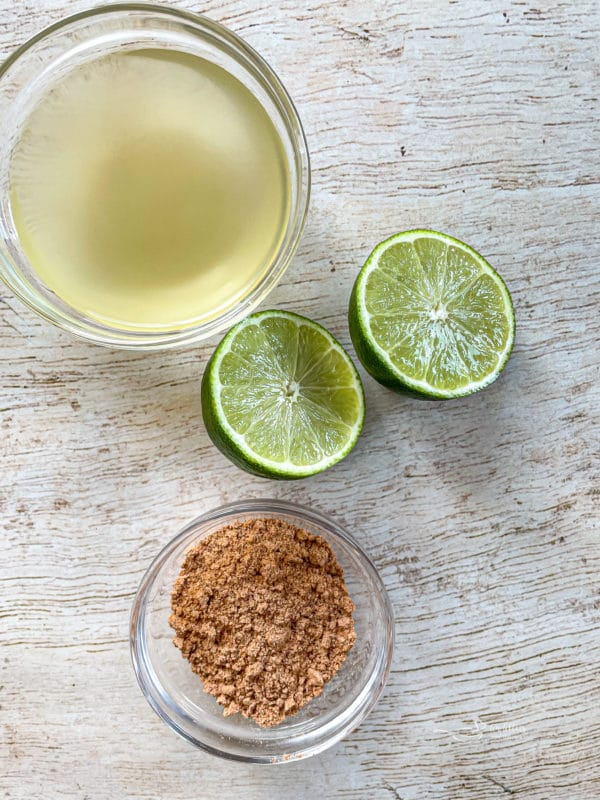 Lime juice, lime, and taco seasoning