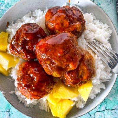 Hawaiian Ham Balls | Ham Balls with Pineapple Sauce