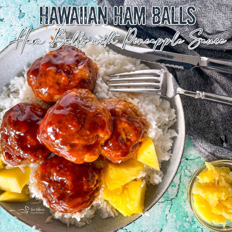 Hawaiian ham balls graphic