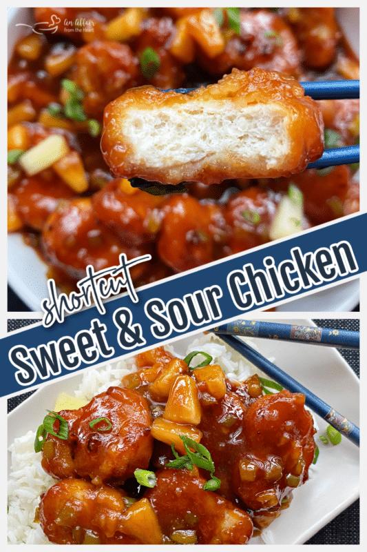 sweet & sour chicken graphic