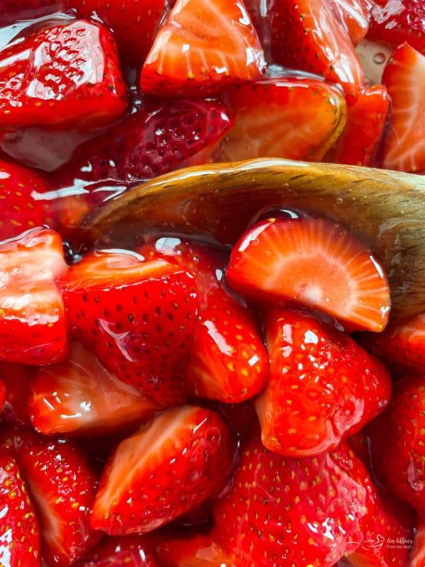 close view of sweet strawberries