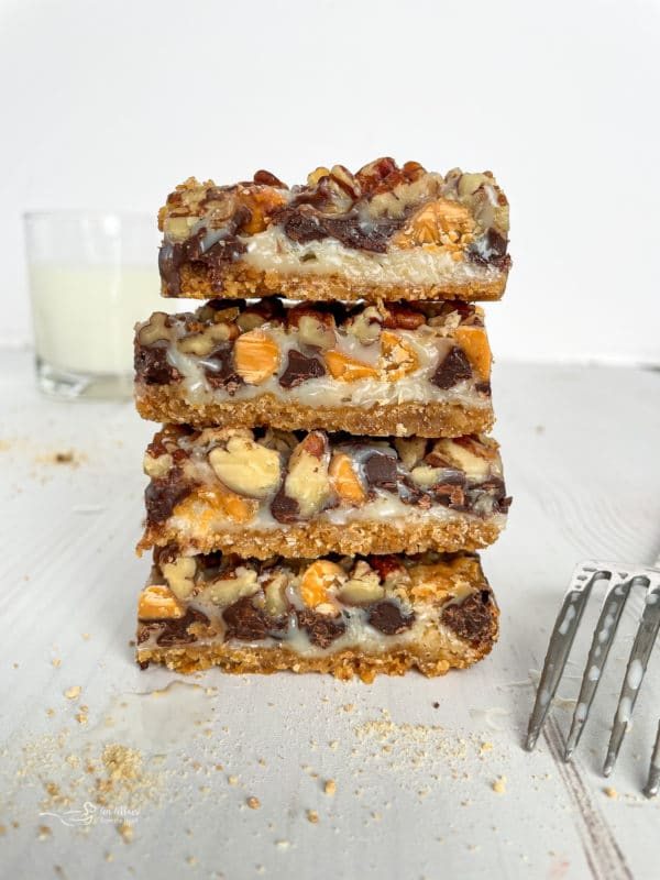 front view of seven layer cookies